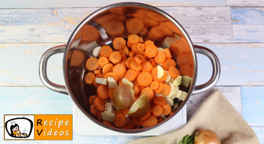 Clear vegetable soup recipe, how to make Clear vegetable soup step 1