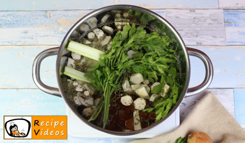 Clear vegetable soup recipe, how to make Clear vegetable soup step 3