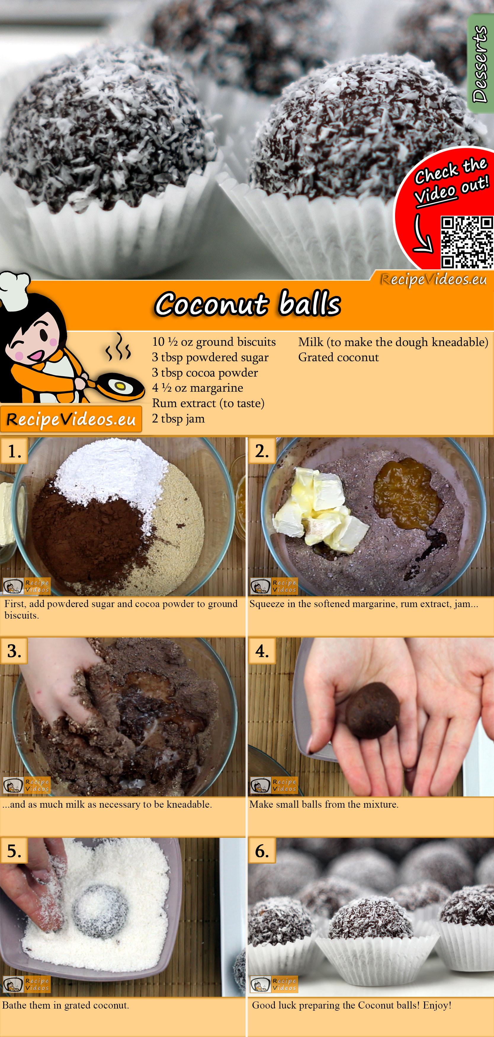Coconut balls recipe with video