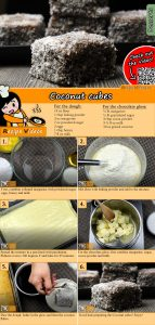 Coconut cubes recipe with video