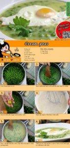 Cream peas recipe with video