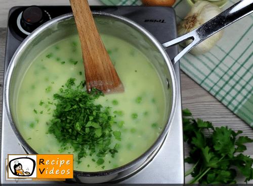 Cream peas recipe, prepping Cream peas step 8