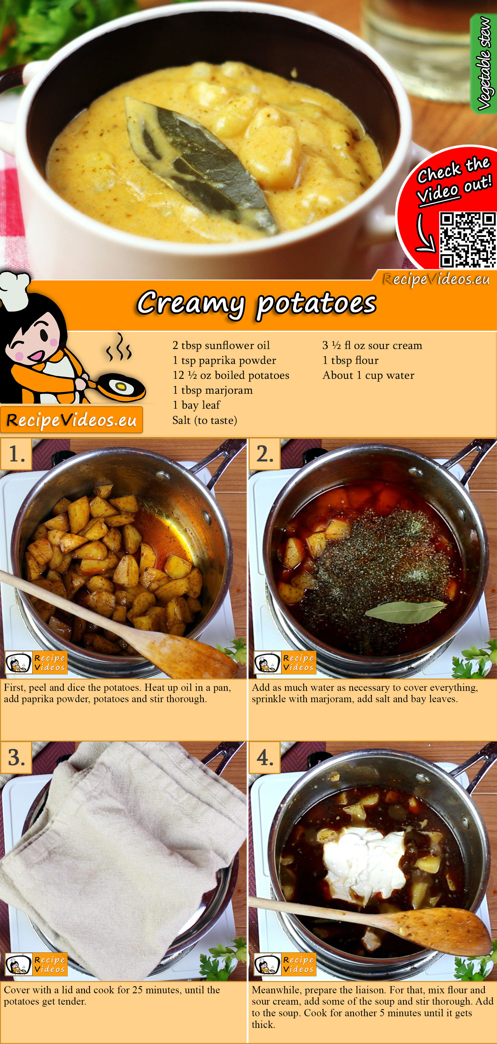 Creamy potatoes recipe with video