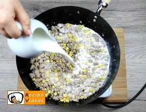 Creamy corn penne recipe, prepping Creamy corn penne step 2