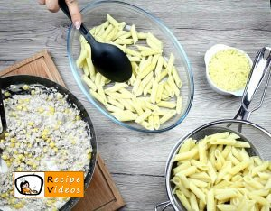Creamy corn penne recipe, prepping Creamy corn penne step 3