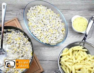 Creamy corn penne recipe, prepping Creamy corn penne step 4