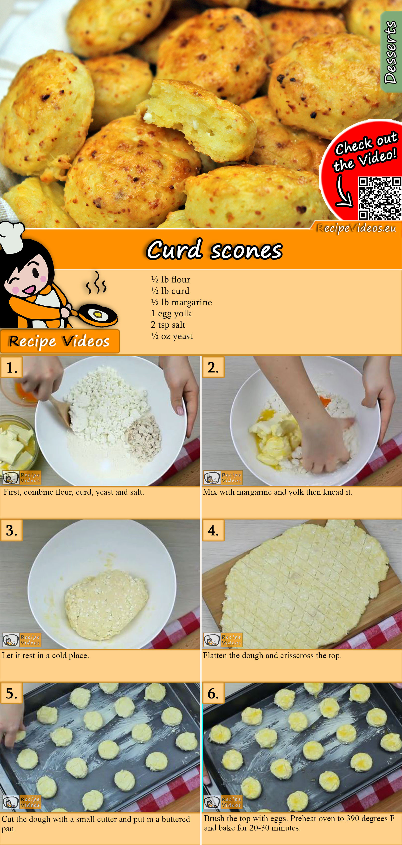 Curd scones recipe with video