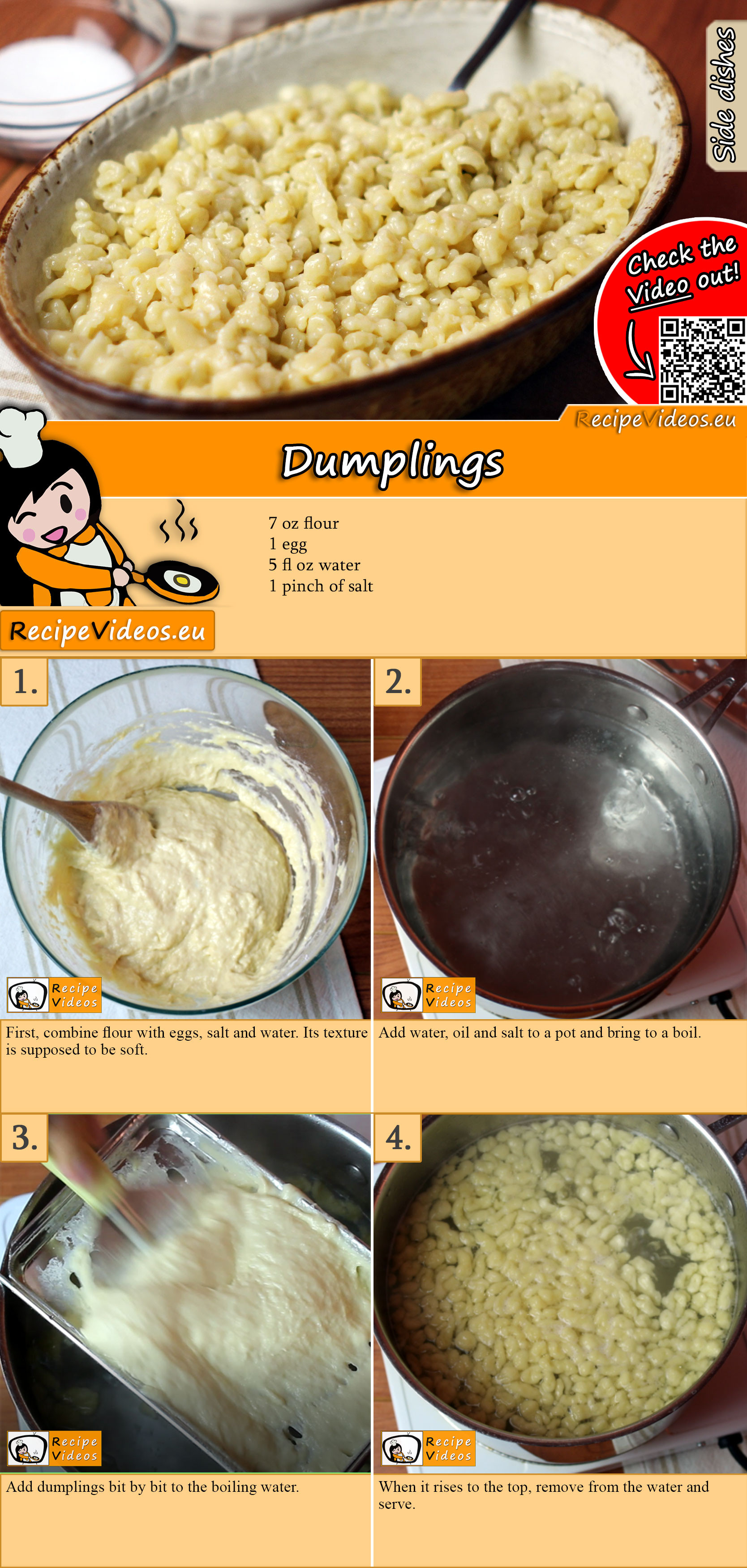 Dumplings recipe with video