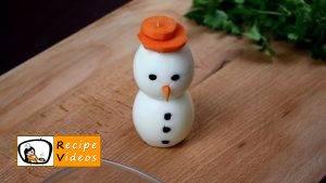 Egg snowmen recipe, how to make Egg snowmen step 4