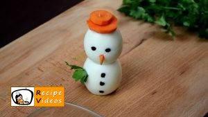 Egg snowmen recipe, how to make Egg snowmen step 5