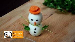 Egg snowmen recipe, how to make Egg snowmen step 6