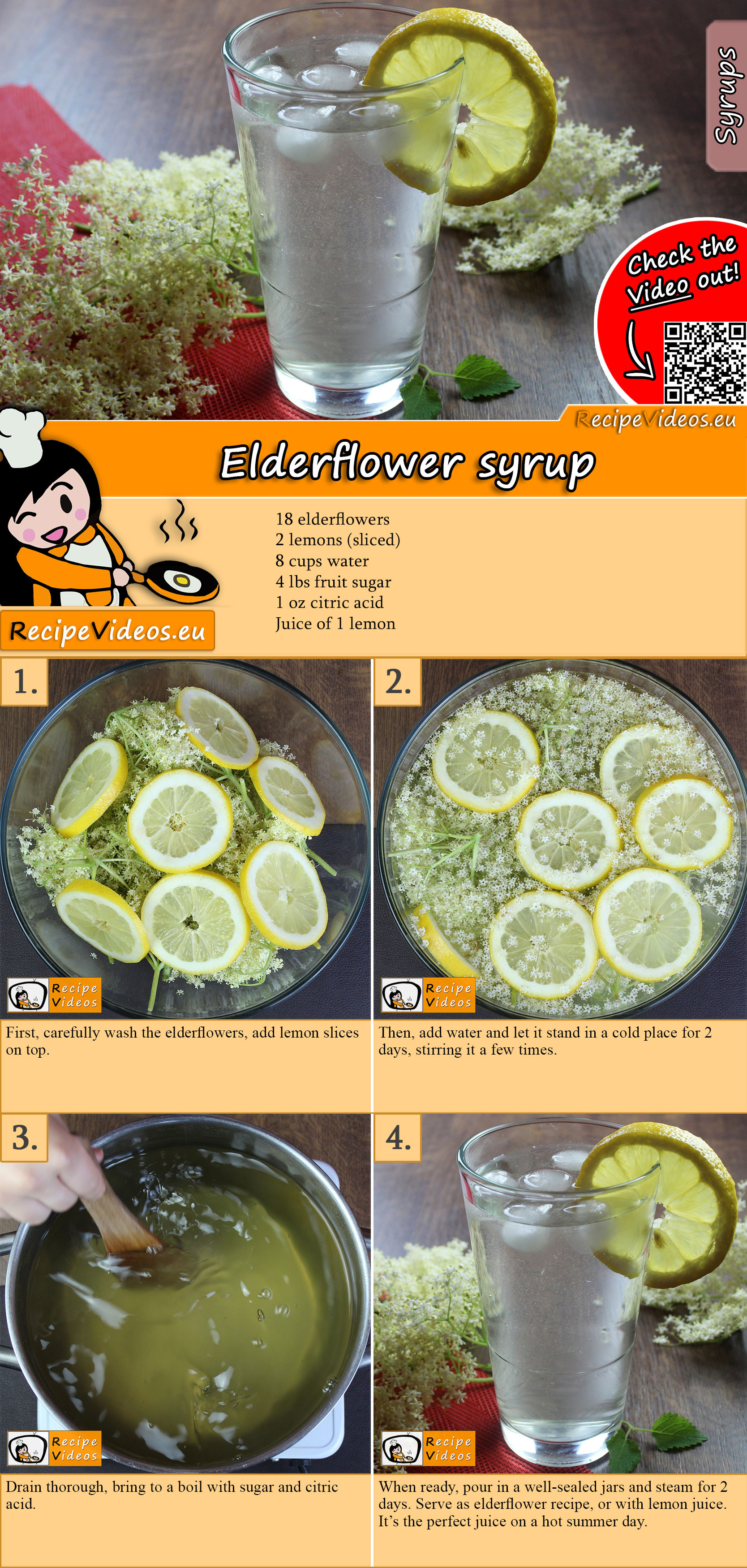 Elderflower syrup recipe with video