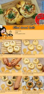 Filled Bread Rolls recipe with video