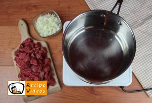 Goulash soup recipe, prepping Goulash soup step 1