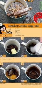 Hazelnut cream mug cake recipe with video