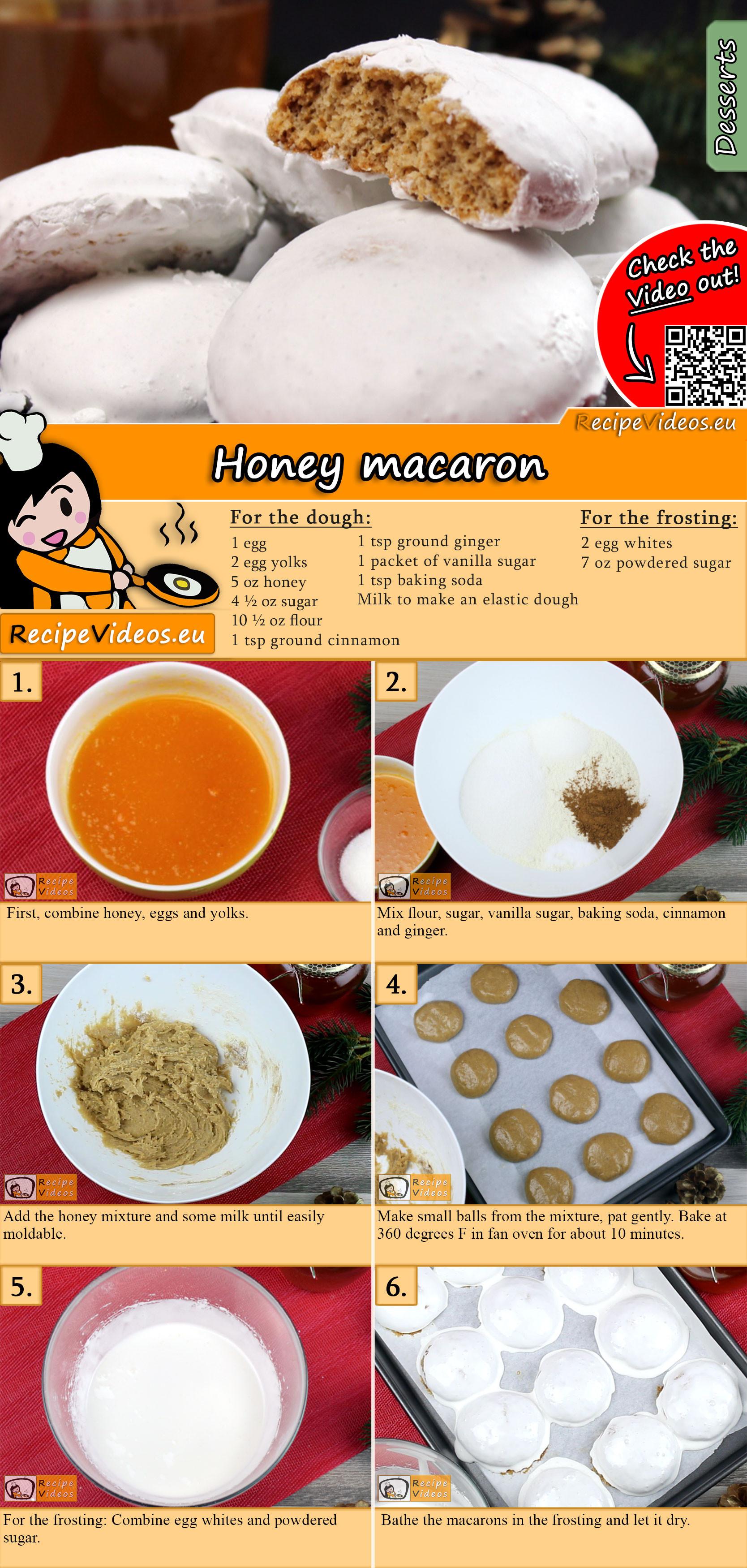 Honey macaron recipe with video