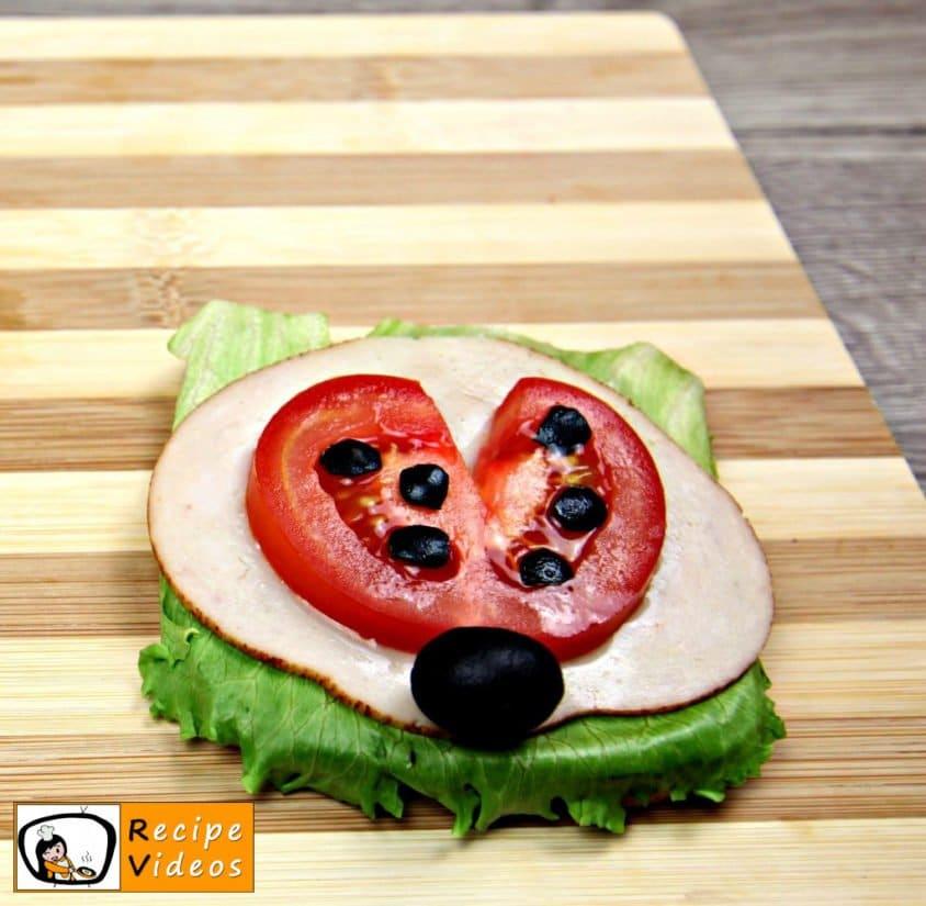 Ladybug Sandwich recipe, prepping Ladybug Sandwich step 4