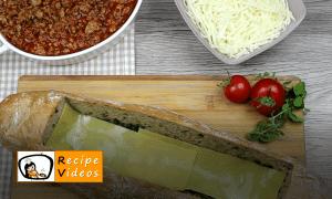 Lasagna baguette recipe, prepping Lasagna baguette step 8