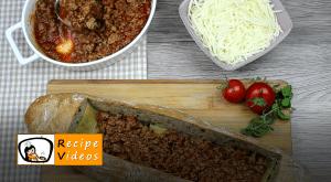 Lasagna baguette recipe, prepping Lasagna baguette step 9