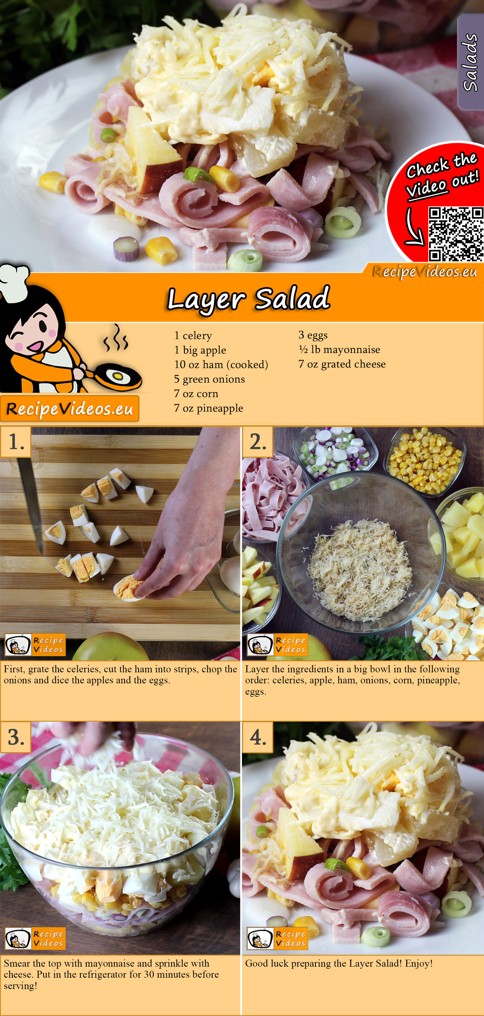 Layer Salad recipe with video