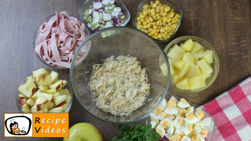 Layer Salad recipe, how to make Layer Salad step 2