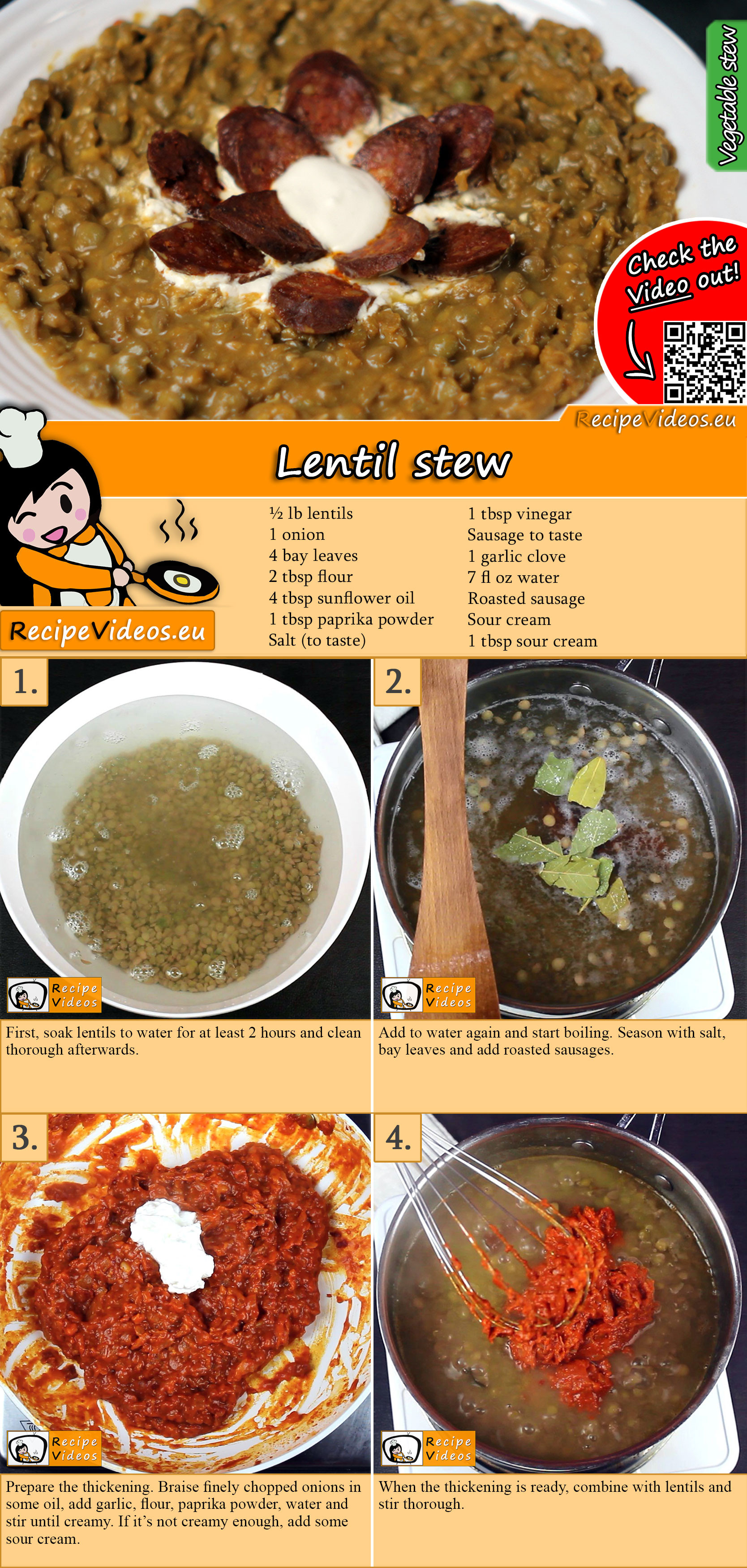 Lentil stew recipe with video