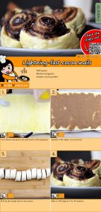 Lightning-fast cocoa snails recipe with video