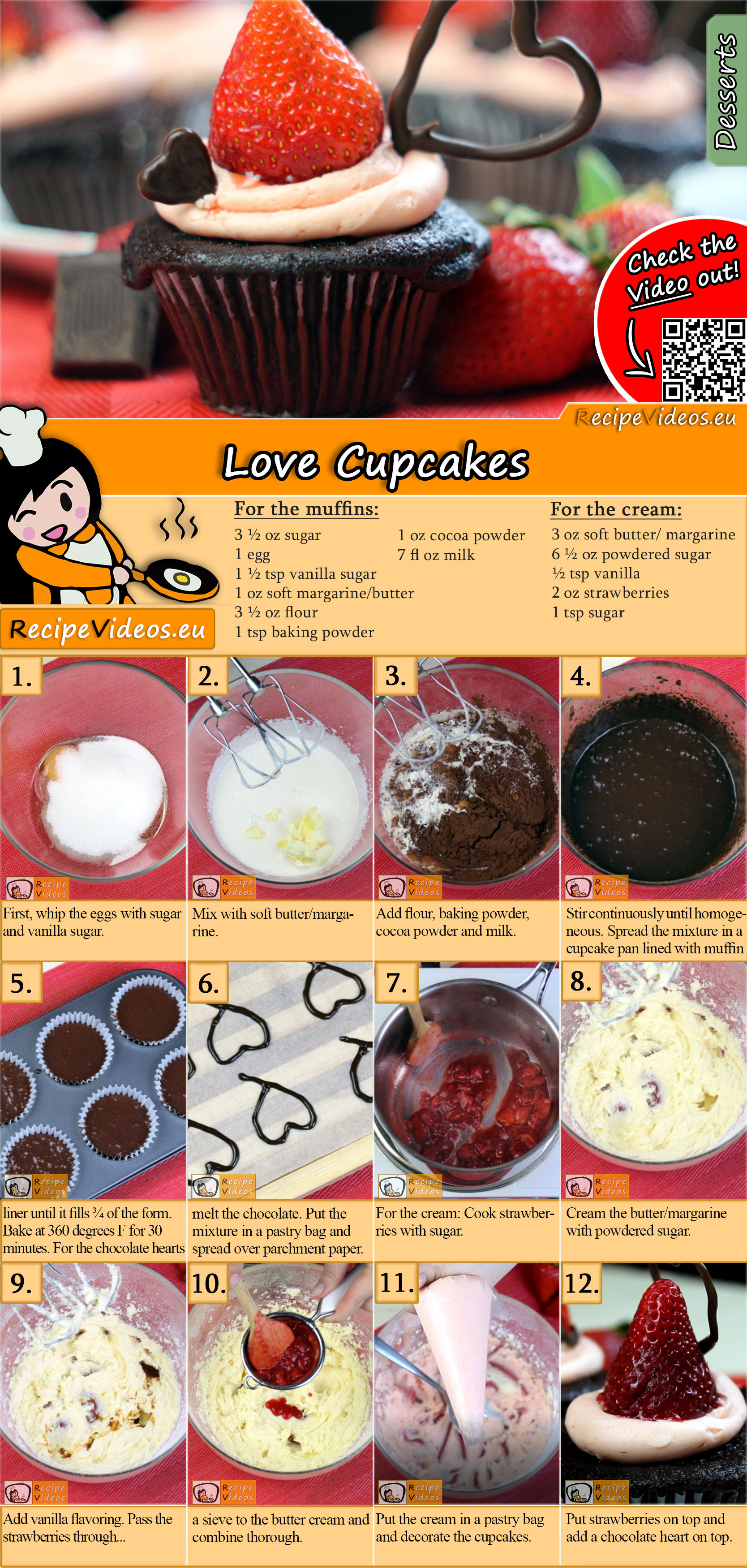 Love Cupcakes recipe with video
