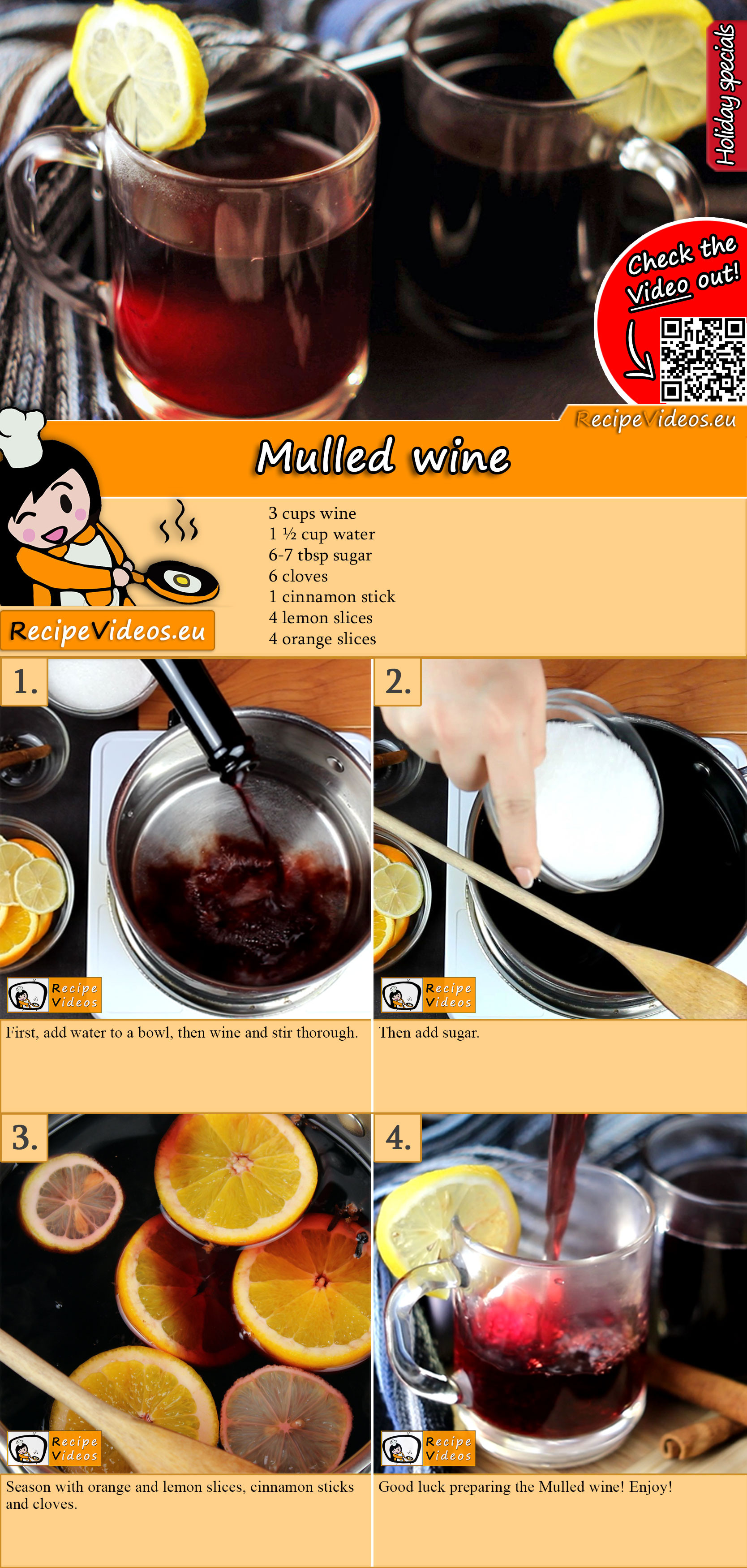 Mulled wine recipe with video