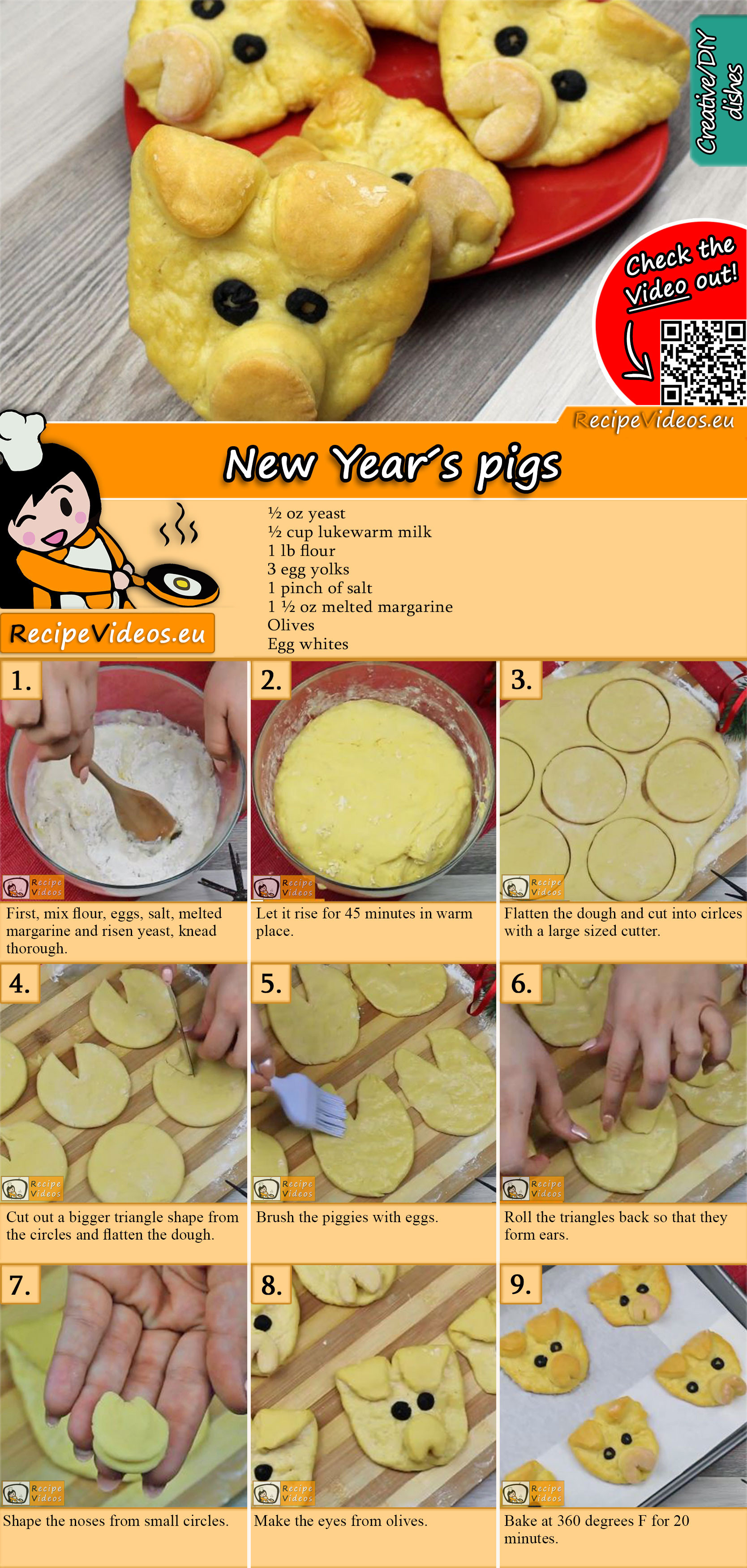 New Year's pigs recipe with video
