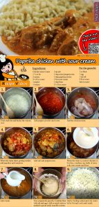 Paprika chicken with sour cream recipe with video
