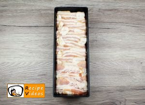Pasta with cottage cheese wrapped in bacon recipe, prepping Pasta with cottage cheese wrapped in bacon step 4