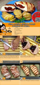 Plum stuffed chicken breast wrapped in bacon recipe with video