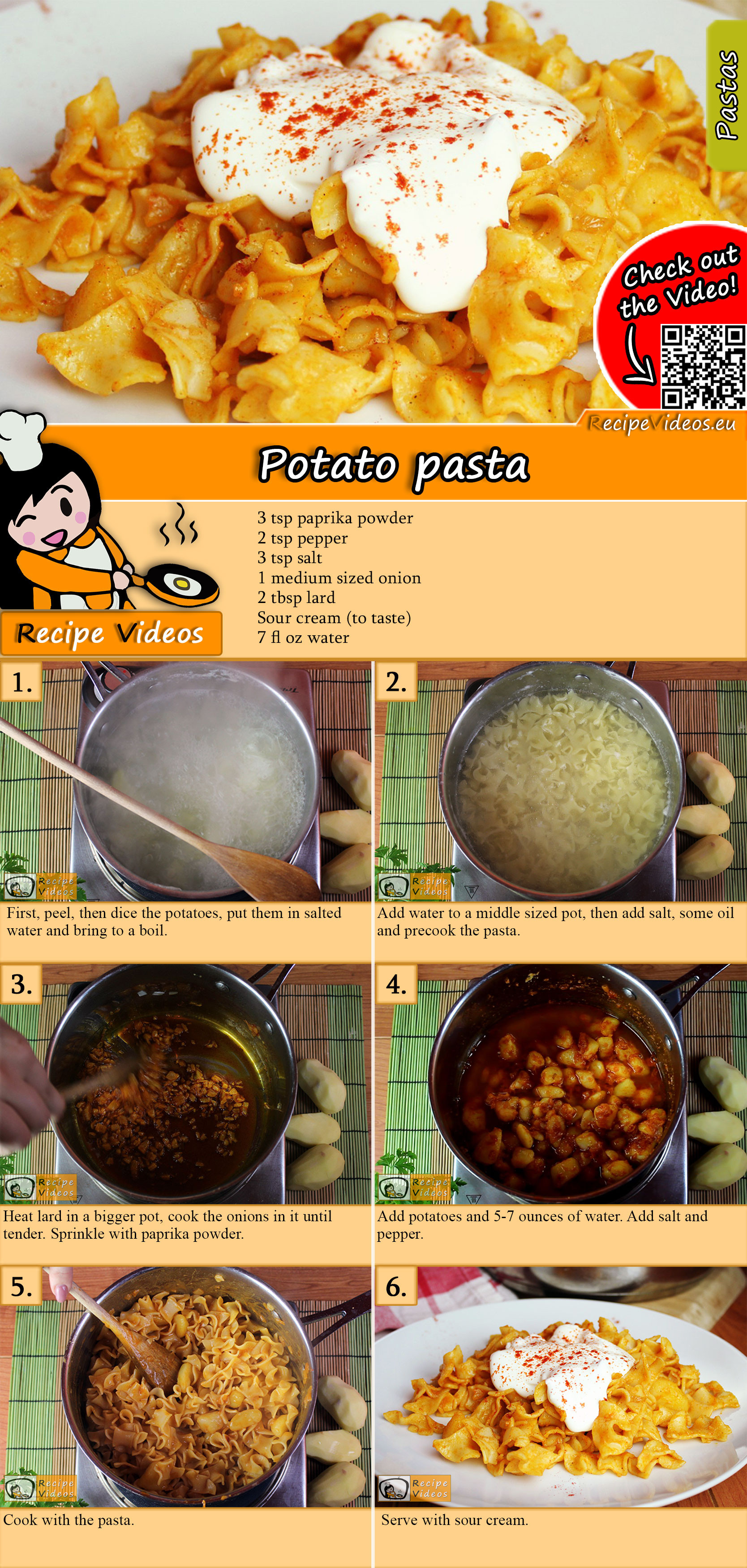 Potato pasta recipe with video