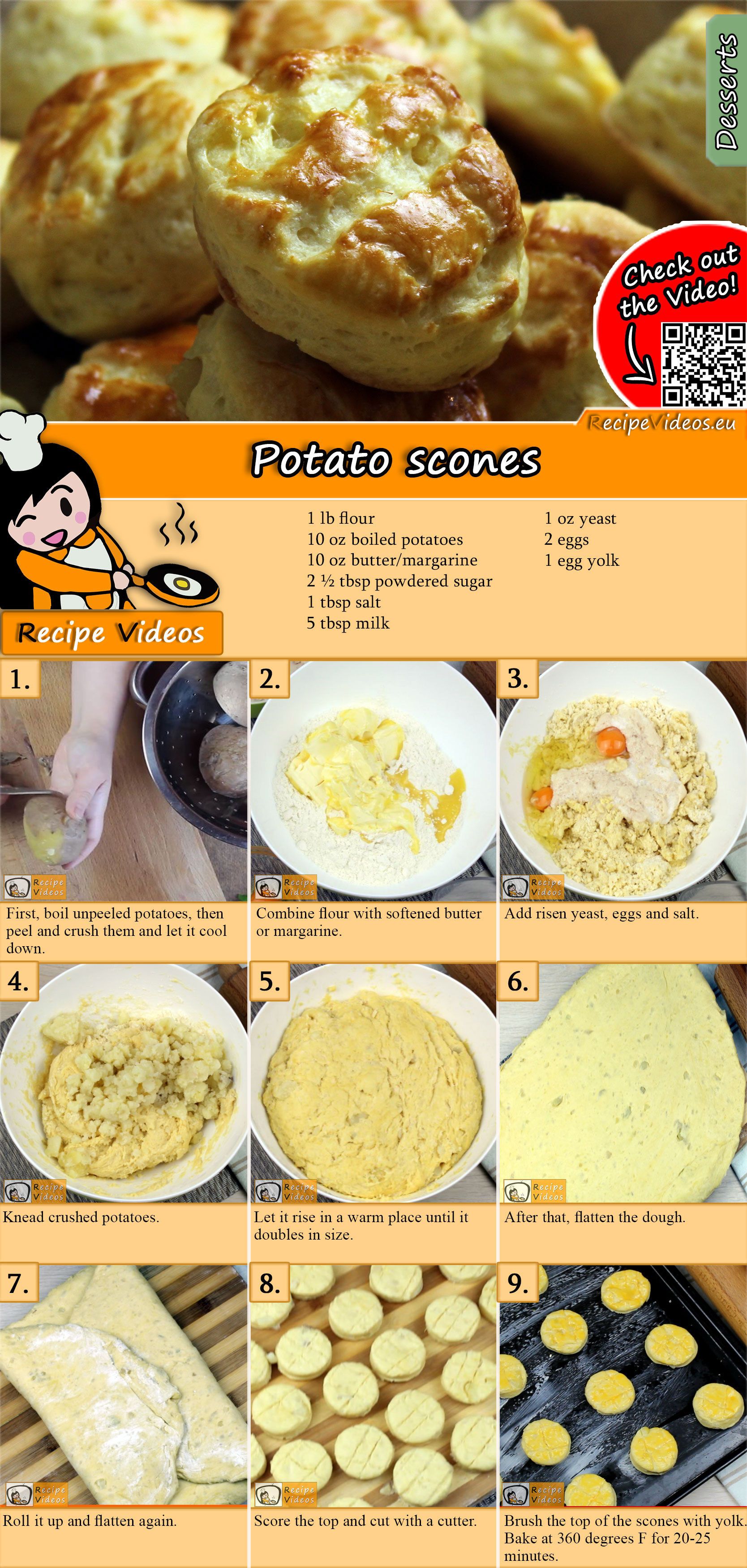 Potato scones recipe with video