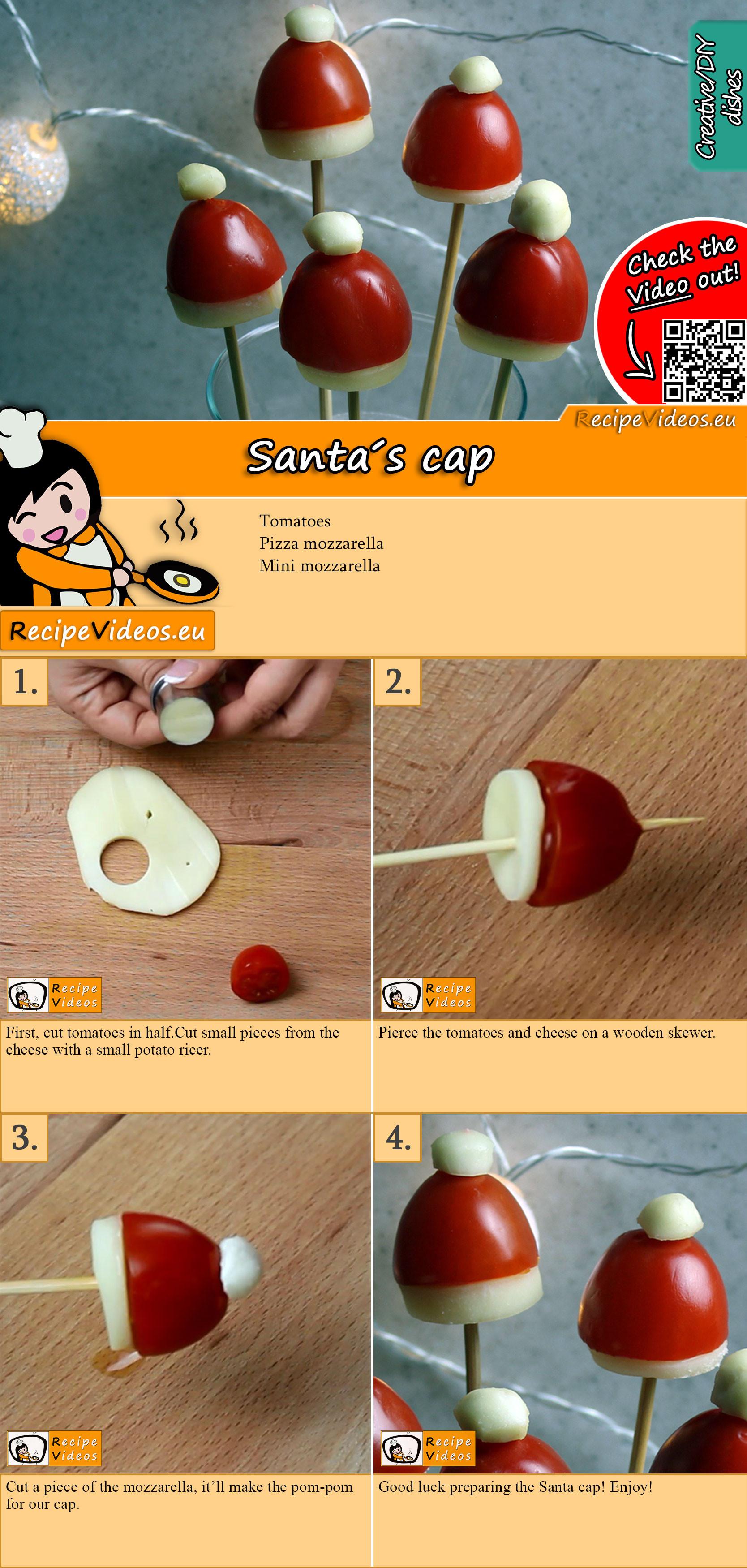 Santa cap recipe with video