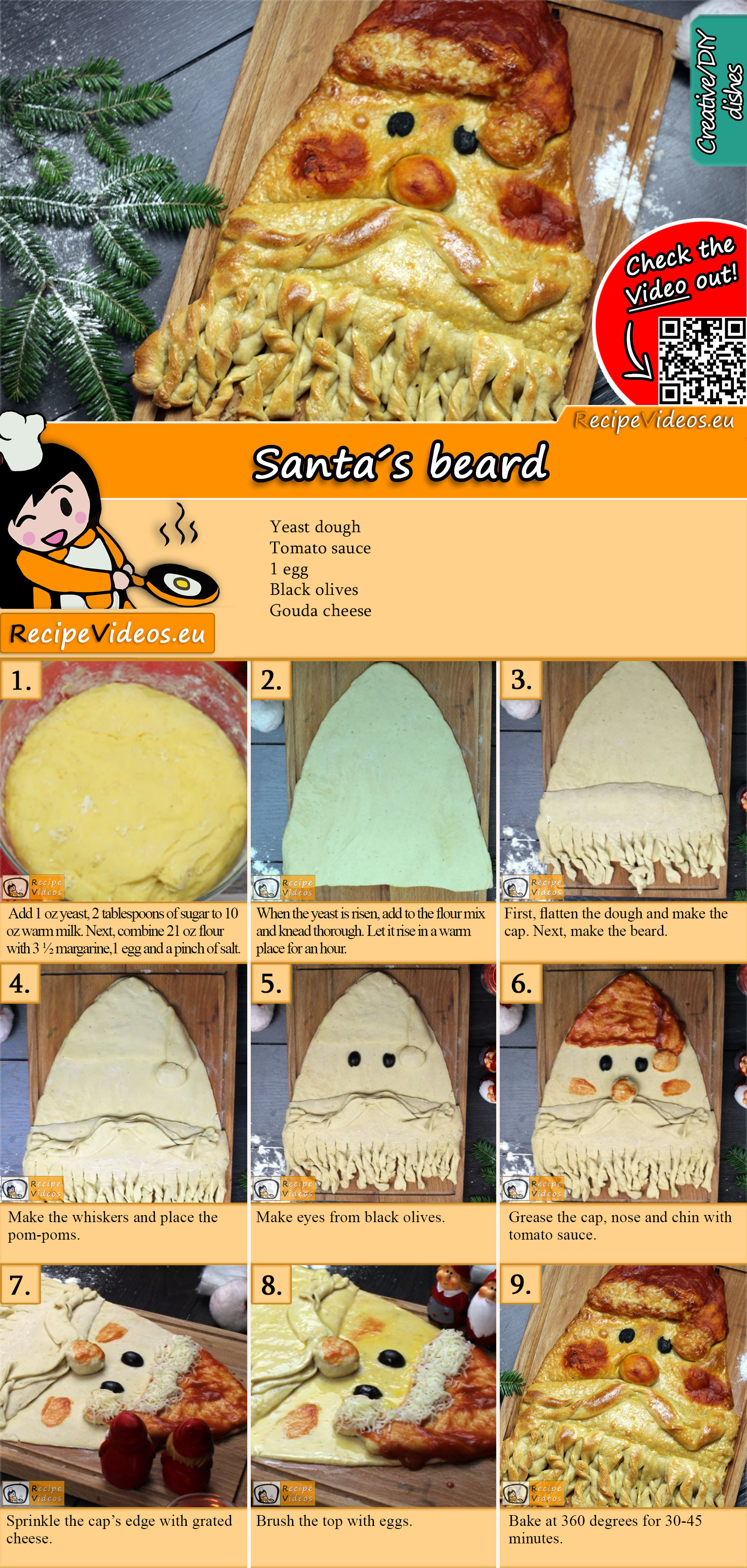 Santa's beard recipe with video