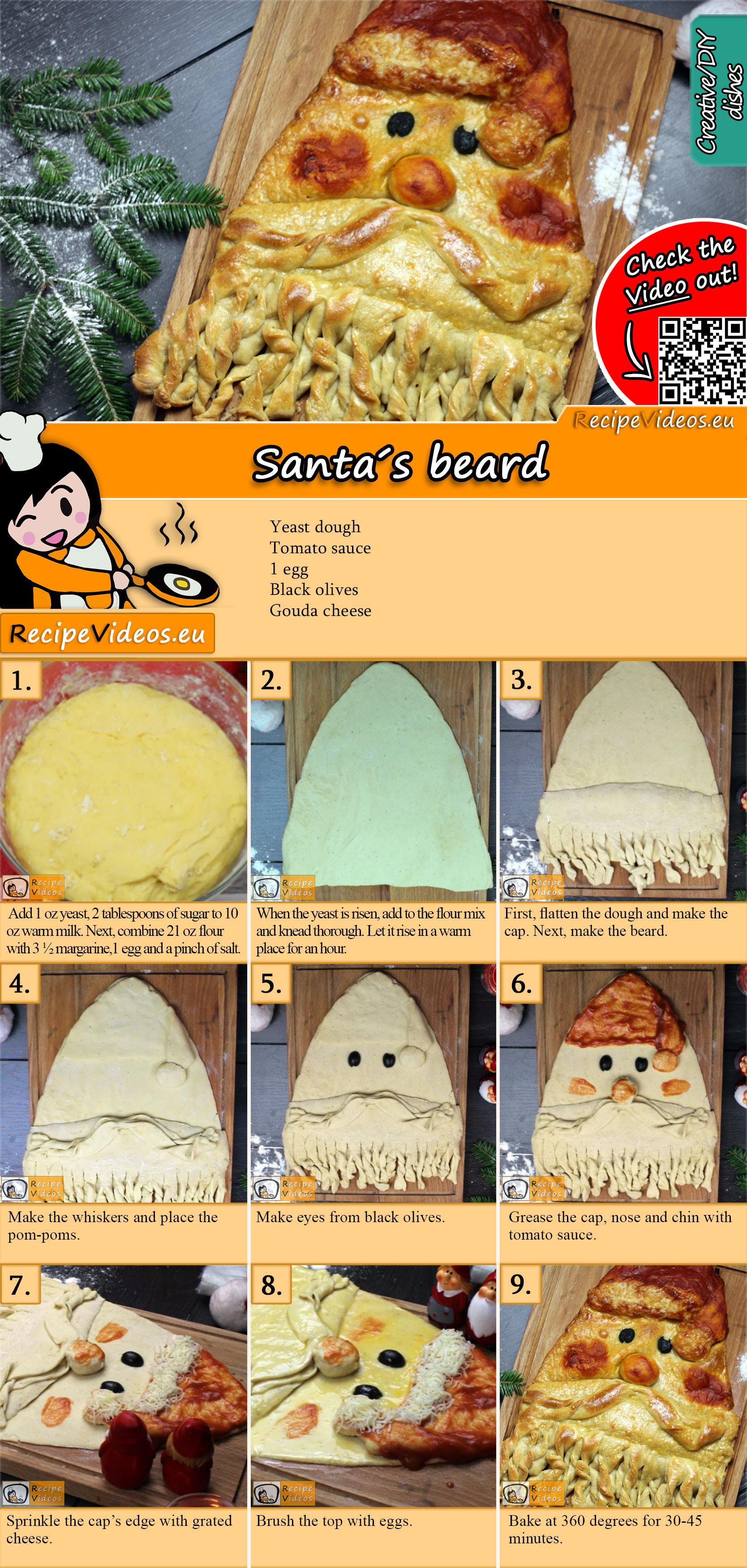 Santa's beard recipe with video