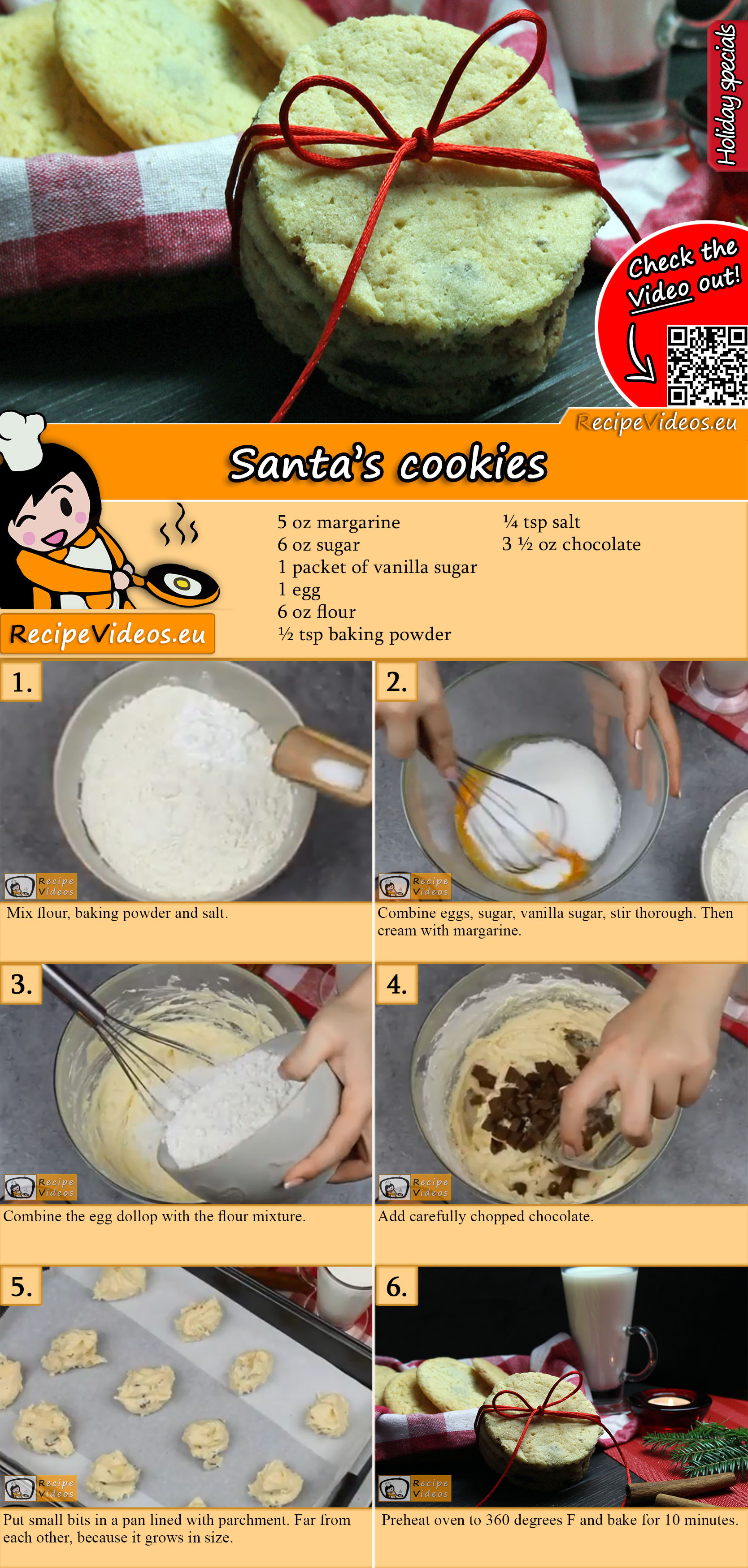 Santa's cookies recipe with video