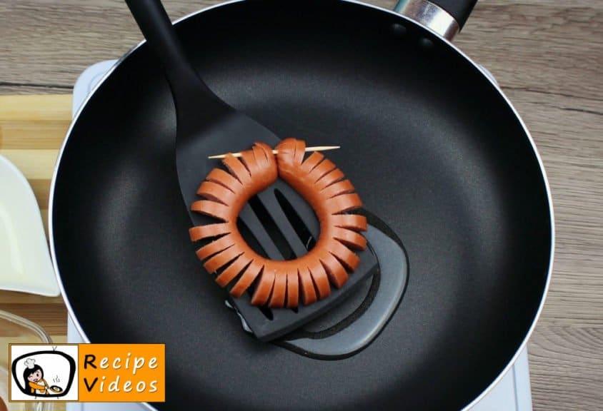 Sausage Daisies recipe, prepping Sausage Daisies step 4