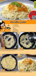 Semolina pasta recipe with video