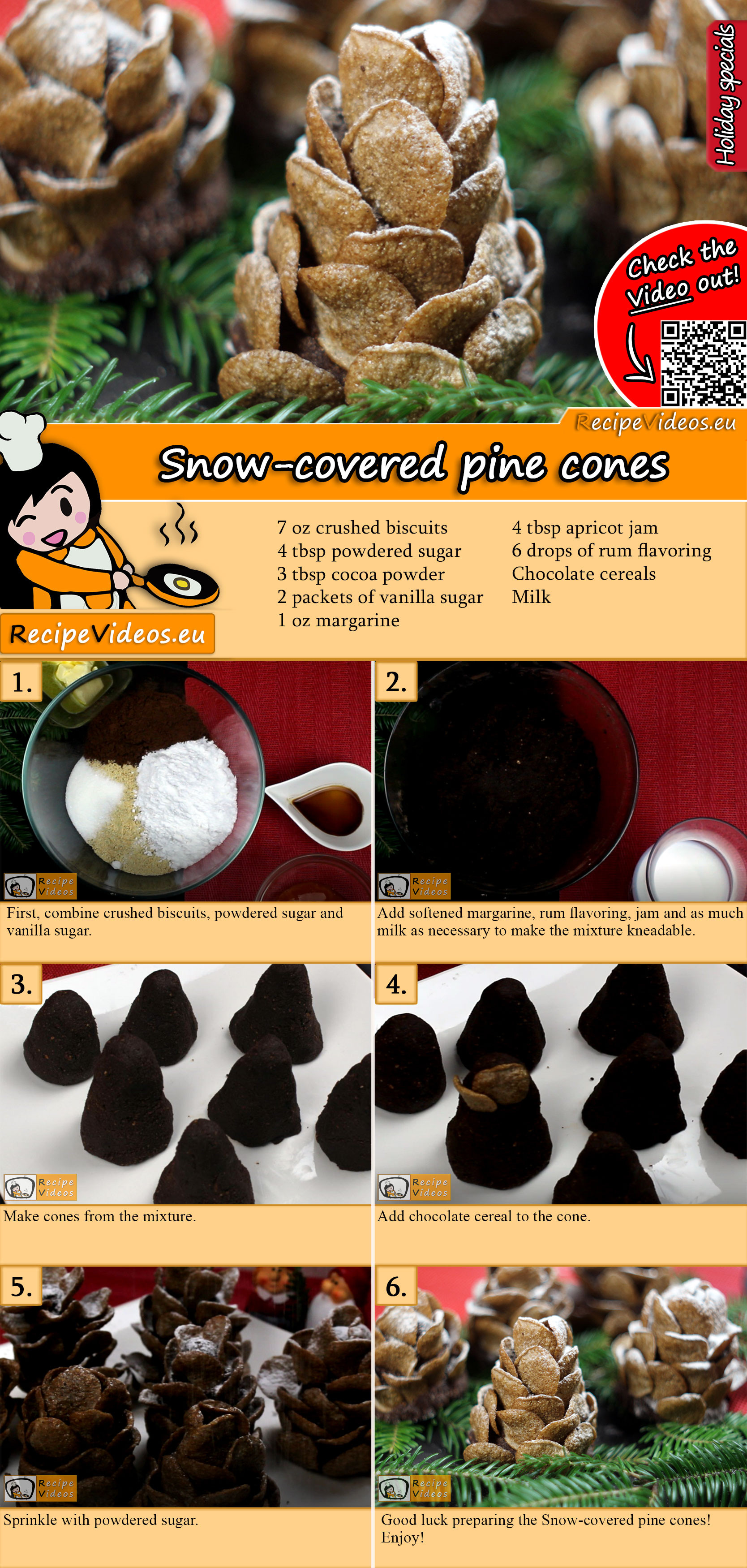 Snow-covered pine cones recipe with video