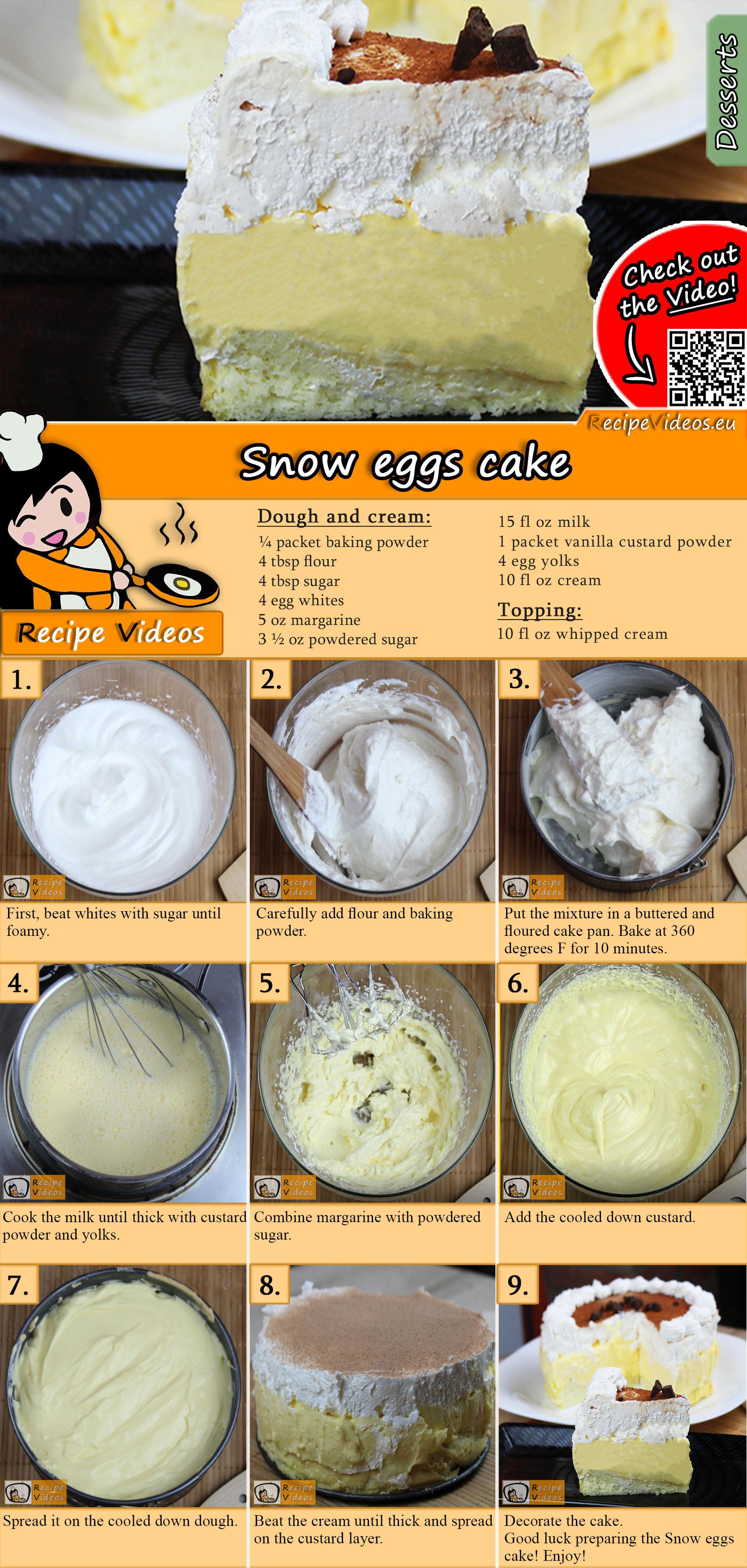 Snow eggs cake recipe with video