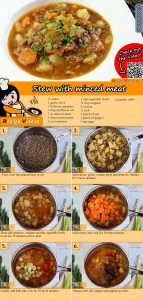 Stew with minced meat recipe with video