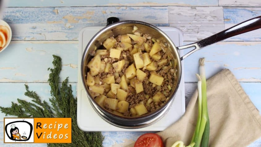 Stew with minced meat recipe, prepping Stew with minced meat step 2