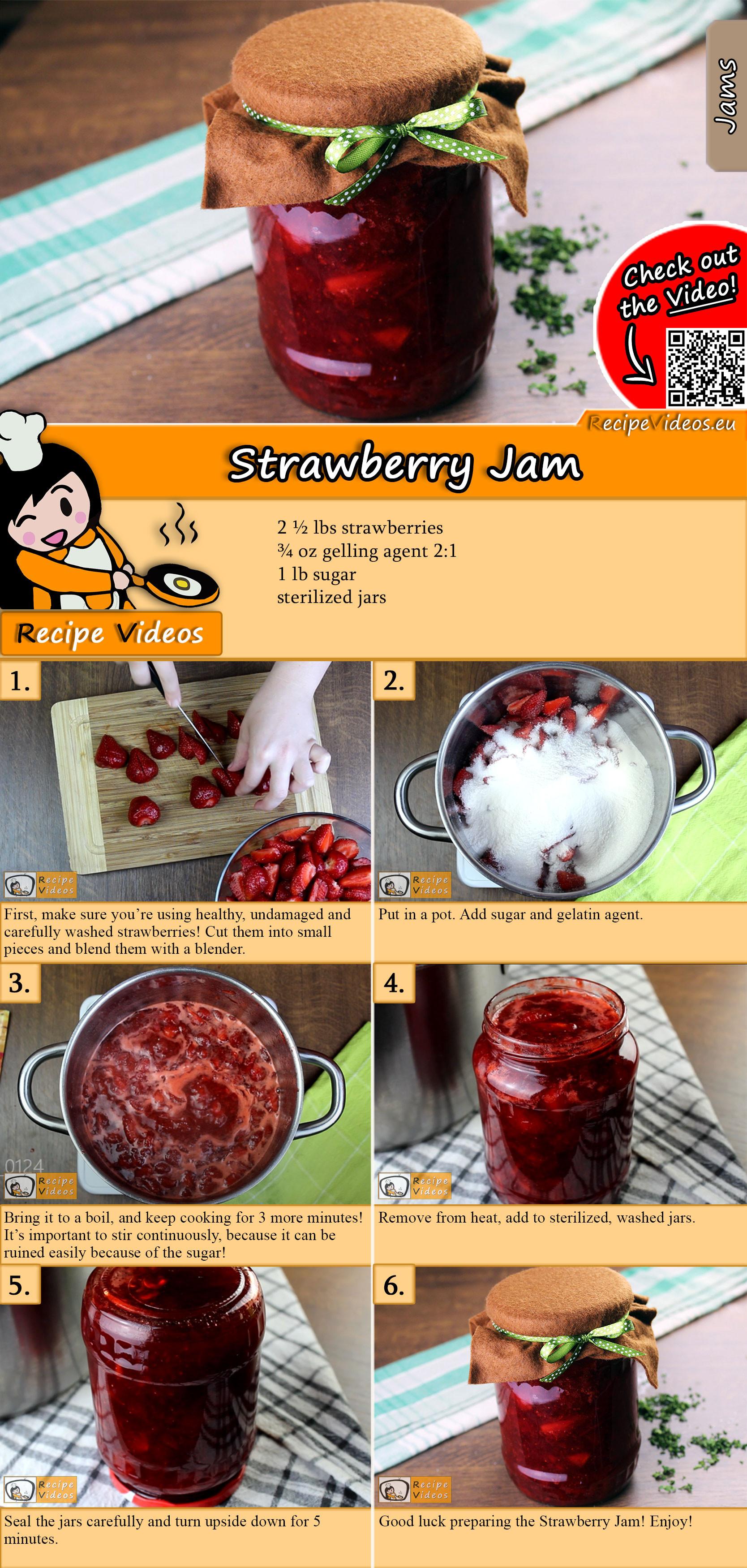 Strawberry Jam recipe with video