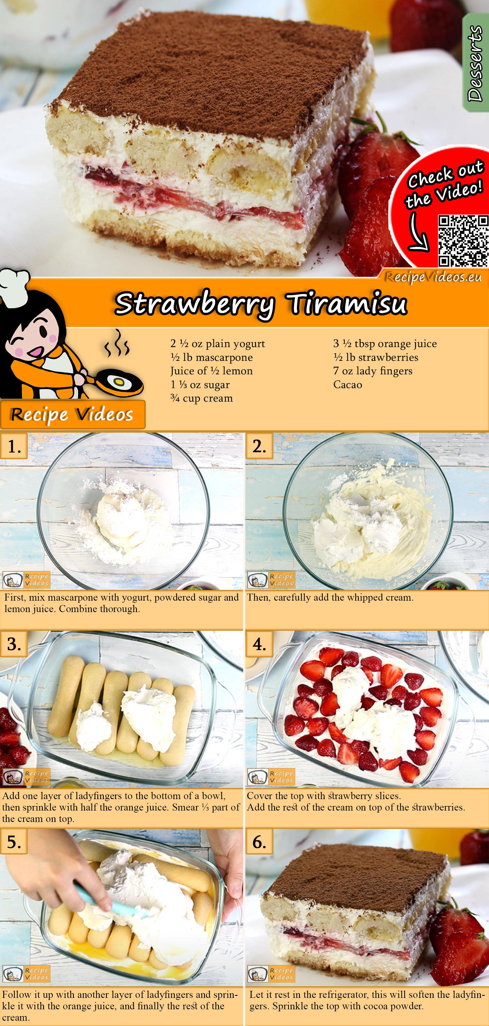Strawberry Tiramisu recipe with video