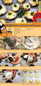 Stuffed cream cheese mushrooms recipe with video
