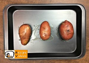 Stuffed baked potatoes with bacon recipe, prepping Stuffed baked potatoes with bacon step 1