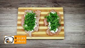 Stuffed chicken with feta cheese and rocket wrapped in ham recipe, how to make Stuffed chicken with feta cheese and rocket wrapped in ham step 4